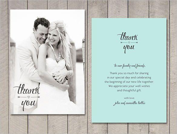 9 Wedding Thank You Cards Psd Ai Indesign Thank You Card