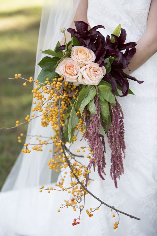 Wild bouquet. Southern Style Wedding Inspiration – KnotsVilla