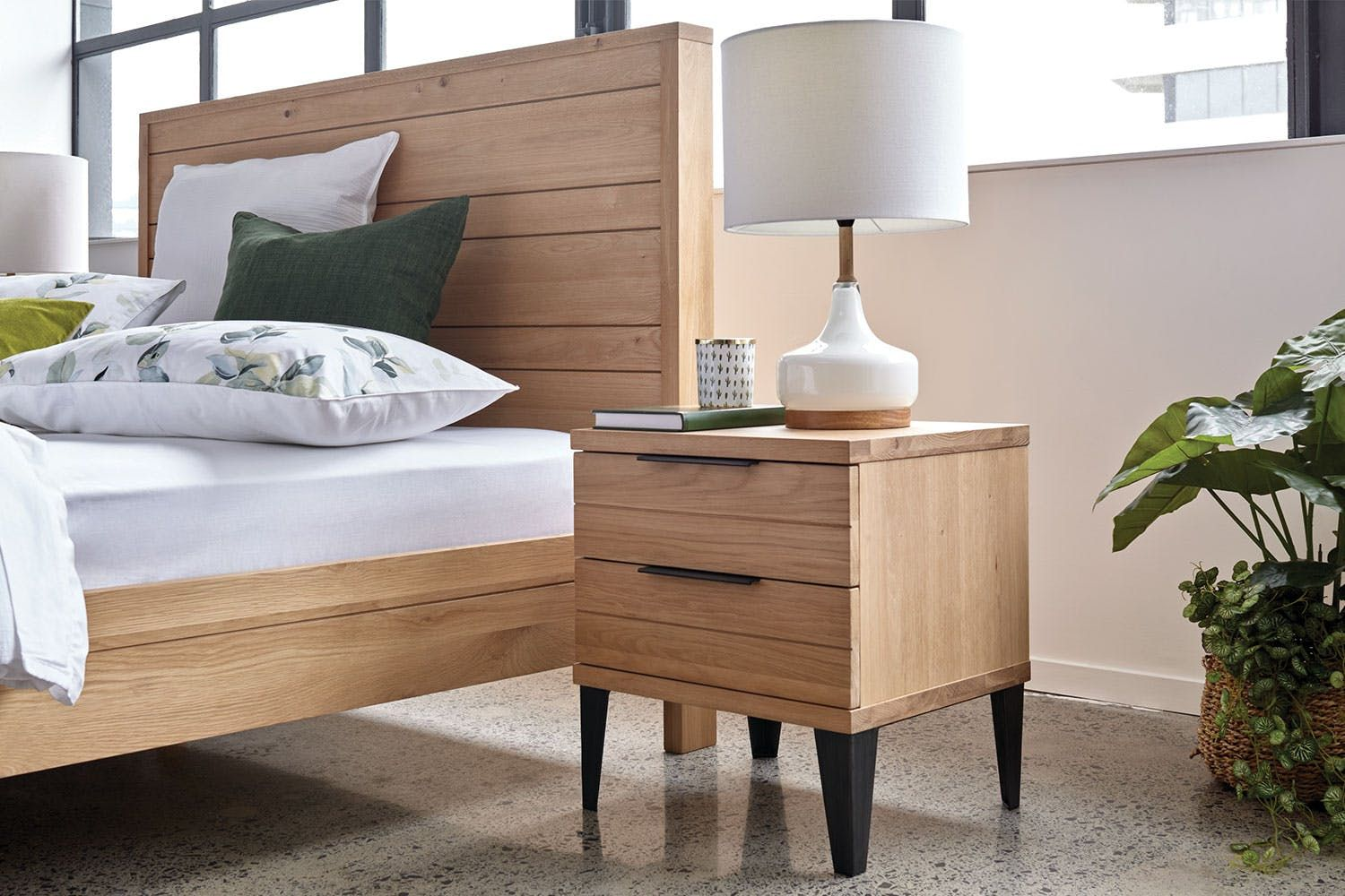 Manhattan Bedside Table by Morgan Furniture  Harvey Norman New