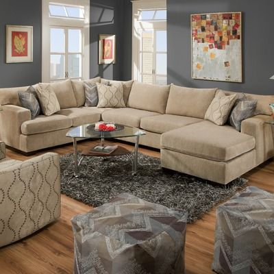 Kathy Ireland Home By Bauhaus USA Galway Chenille Sectional