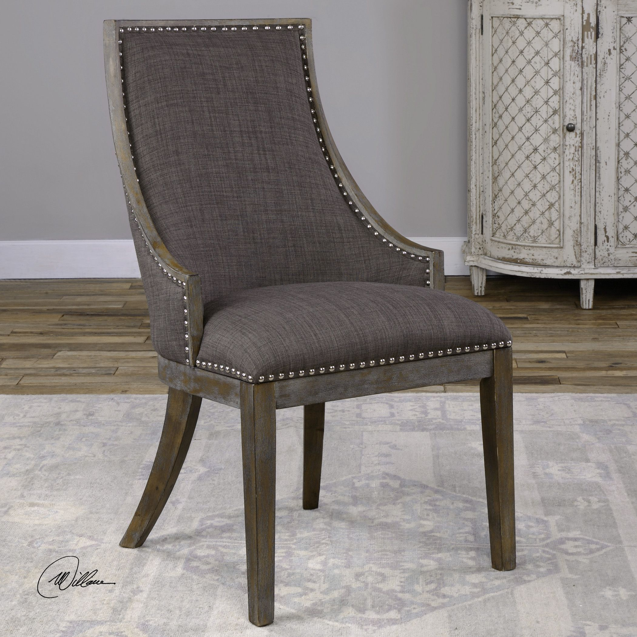 Best Aidrian Charcoal Gray Accent Chair In 2019 Grey Accent 640 x 480