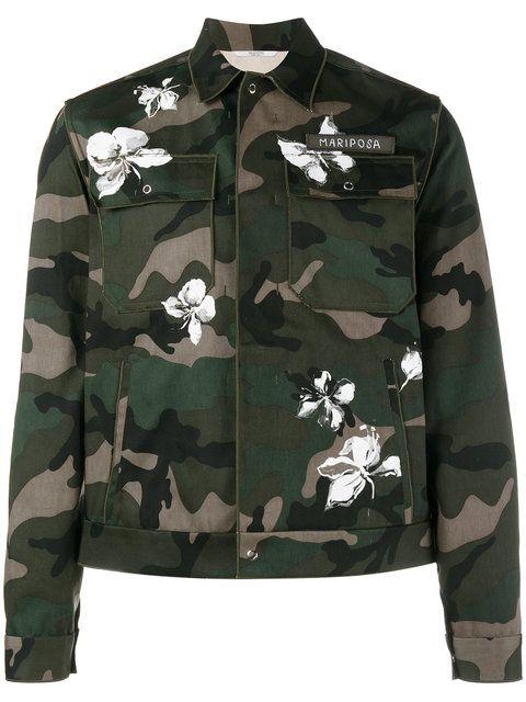 3931758e6164d VALENTINO Mariposa Camouflage Print Jacket. #valentino #cloth #jacket