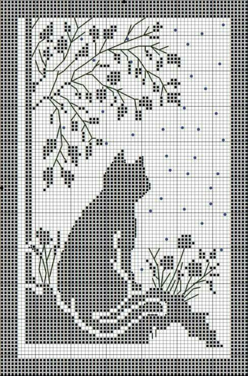 Filet idea | Crochet doilies and curtains | Pinterest | Cortinas ...