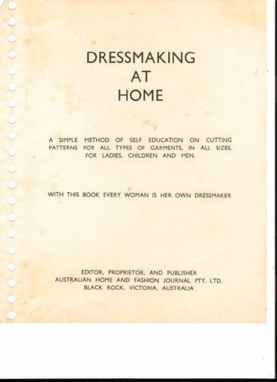 Dressmakingathome   Patronaje, Costura y Libros
