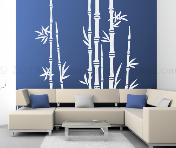 Bamboo Tree Wall Decal Living Room Wall Decal Tree Wall Decal - Vinyl wall decals asian
