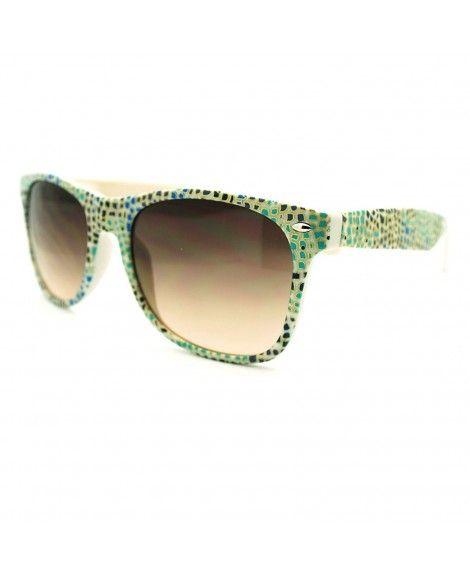 2ba196bf607 Animal Prints Wayfarer Sunglasses Classic Spring Hinge Frame - Blue ...