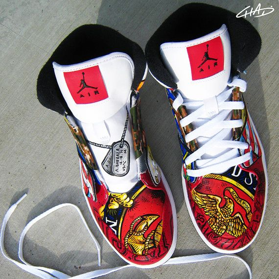 reputable site 4e019 e5a24 ... low cost full custom hand painted nike jordans by artofthesole on etsy  36ca8 2781b