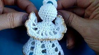 Pingente Botinha Papai Noel em Crochê - YouTube