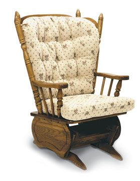 Newport Solid Oak Glider Rocker 160