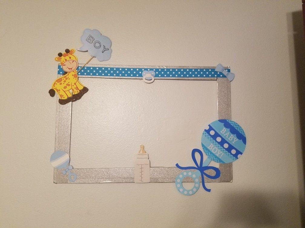 Baby shower boy frame giraffe | baby shower | Pinterest | Baby ...
