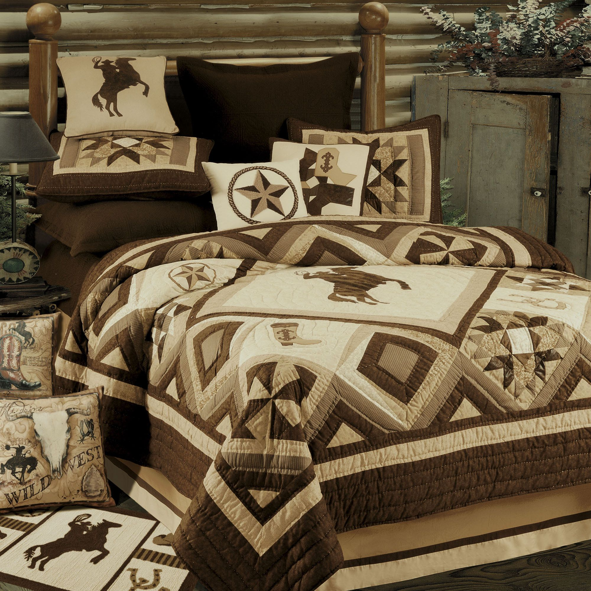 comforter veratex pin southwest bedding ranch pinterest fe comforters horse santa by