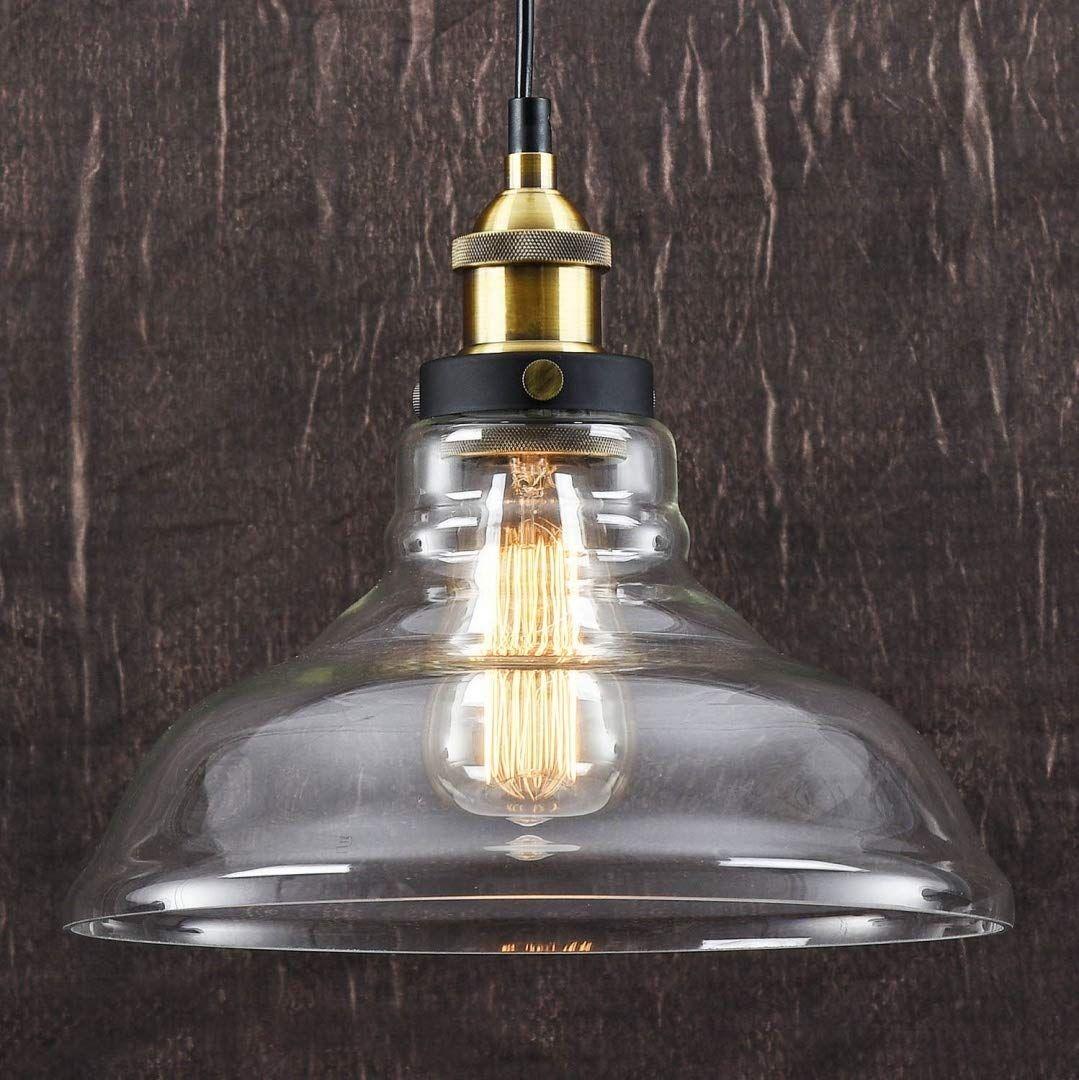 Lomt Vintage Deckenlampe Pendelleuchte Birnenform Moderne Deckenleuchte Im Retro Industrial Stil Au Ceiling Lights Glass Ceiling Lamps Pendant Light Shades