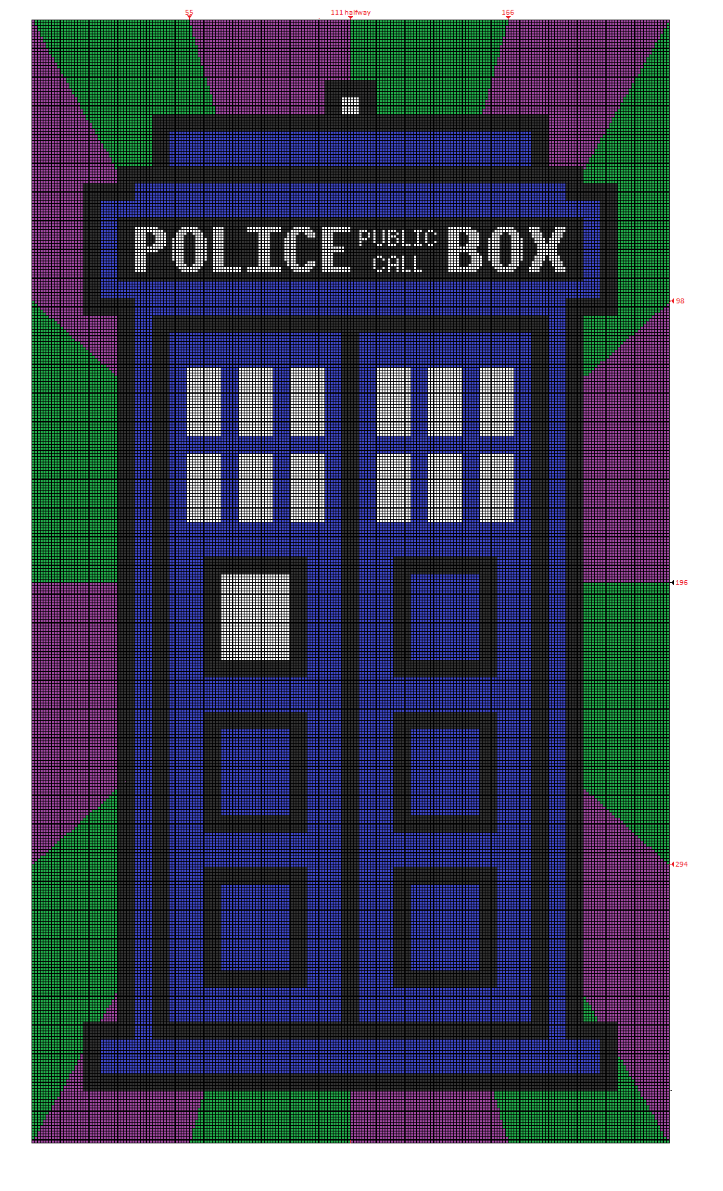 Doctor Who TARDIS Crochet blanket graph pattern for Piper\'s new ...