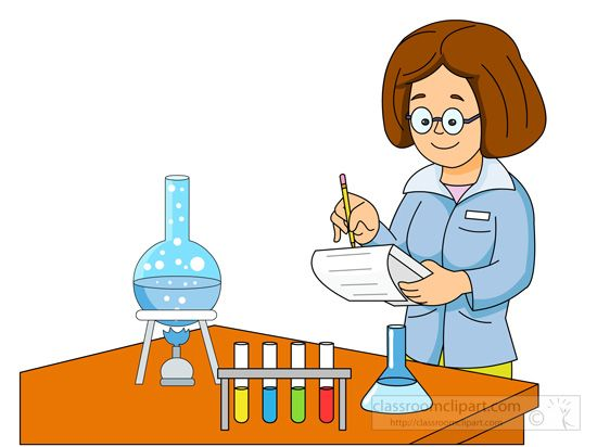 Science  lady-scientist-performing-experiment-graduated-cylinder