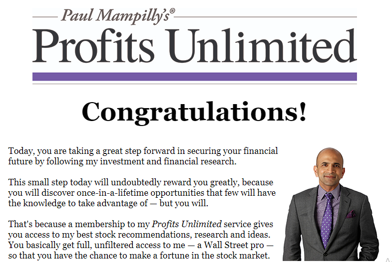 Paul Mampilly Profits Unlimited Reviews