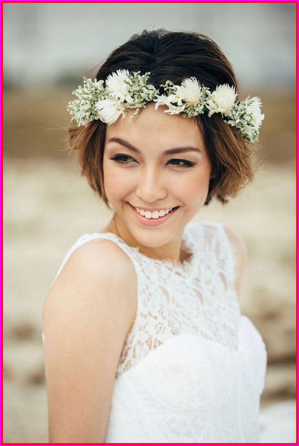 best 50 wedding short hairstyles with flowers, | pregnancy