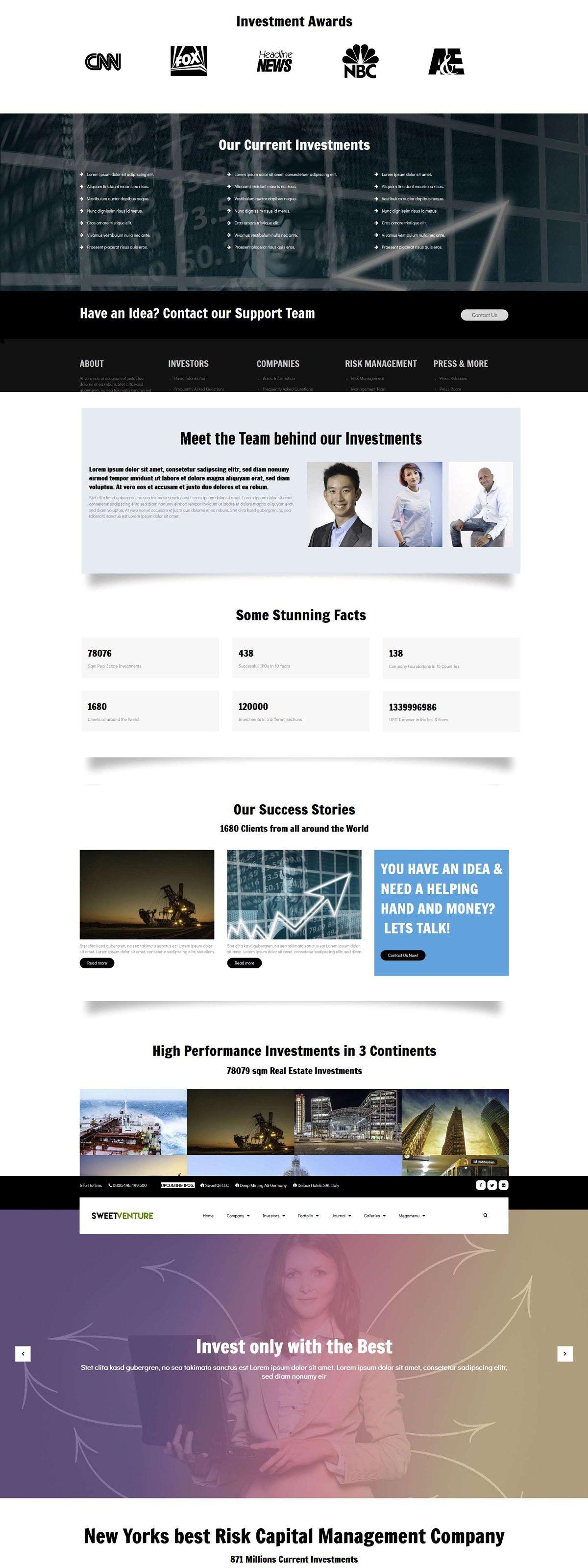 Sweetventure Venture Capital Theme Venture Capital Web Graphic Design Advanced Typography