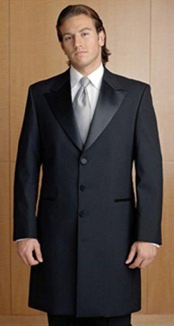 4749905bbe3 Men's Black 3/4 Length Frock Victorian Tuxedo Coat Jacket - All Sizes +  FREE S/H #34Frock