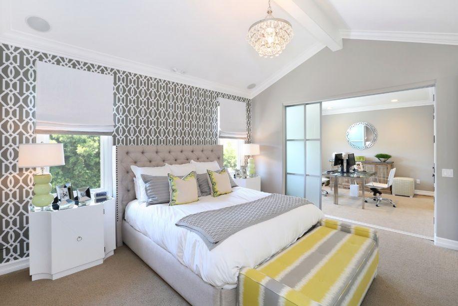 Grey And Yellow Bedroom Extraordinary Grey And Yellow Bedroom Wallpaper  Que La Nuit Nous Emporte Dans Design Ideas
