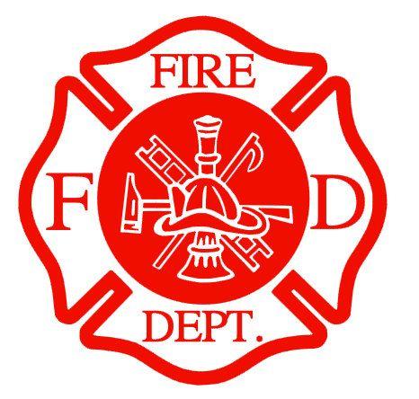 fire department fireman car decal sticker by thecarolinayankee