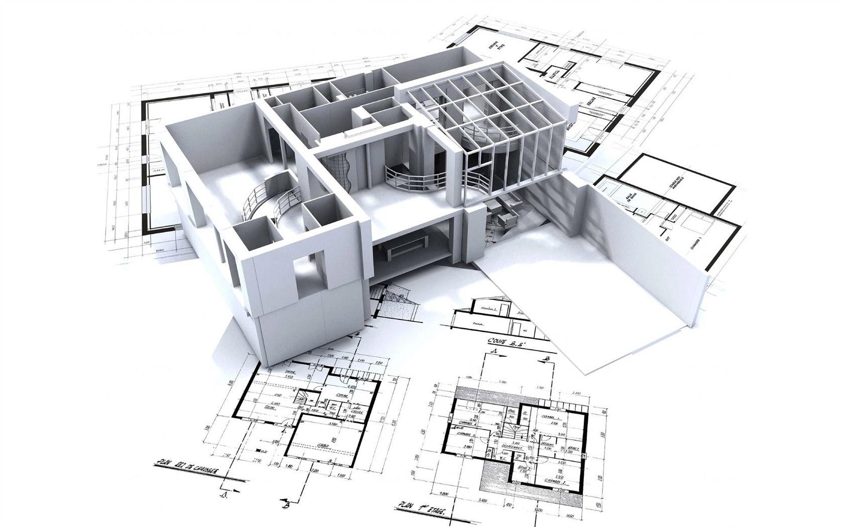 Fondo de pantalla 3D Diseño Arquitectónico (2) #10 - 1680x1050