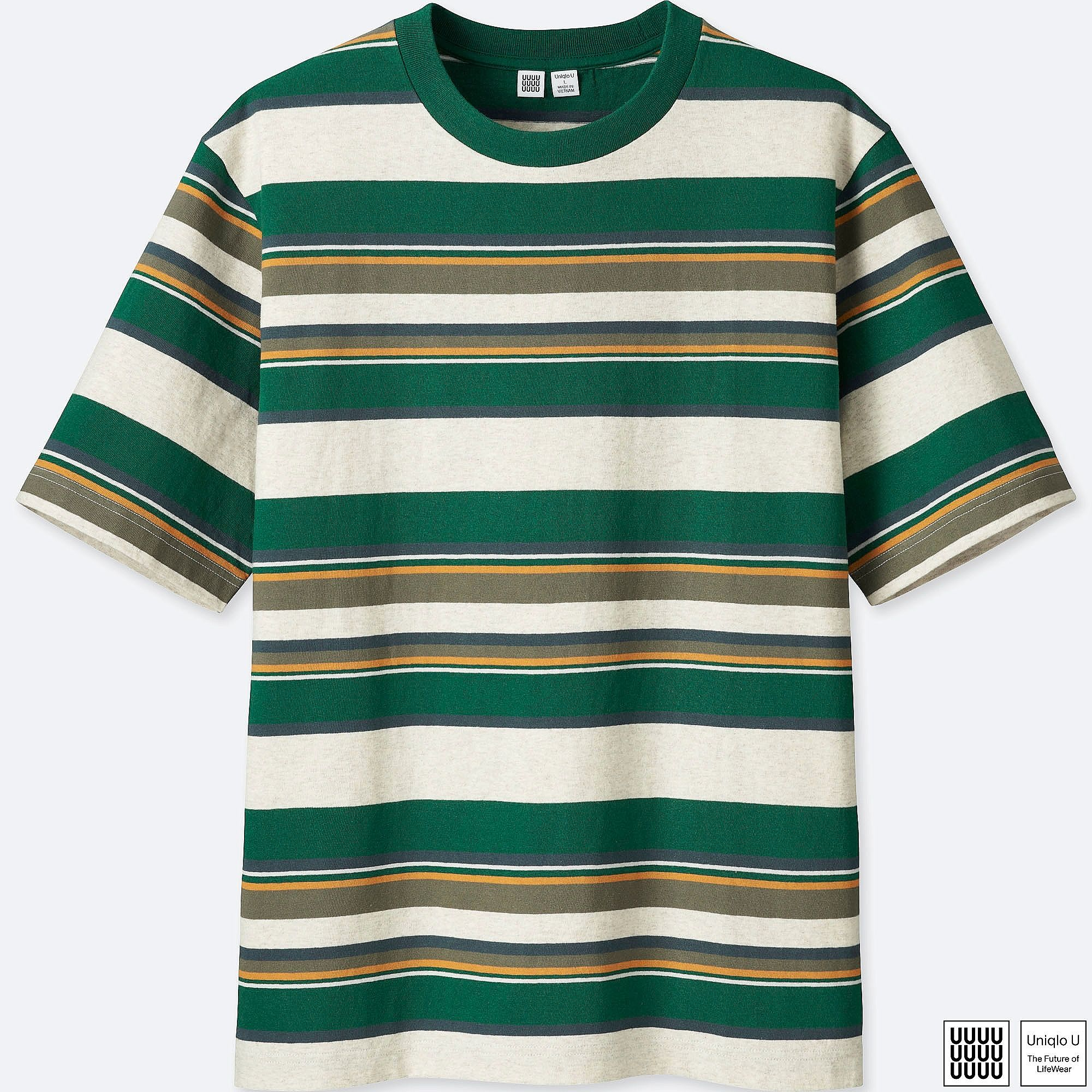 6402feec11 MEN UNIQLO U 100% COTTON Striped Short Sleeve T-Shirt | UNIQLO UK ...