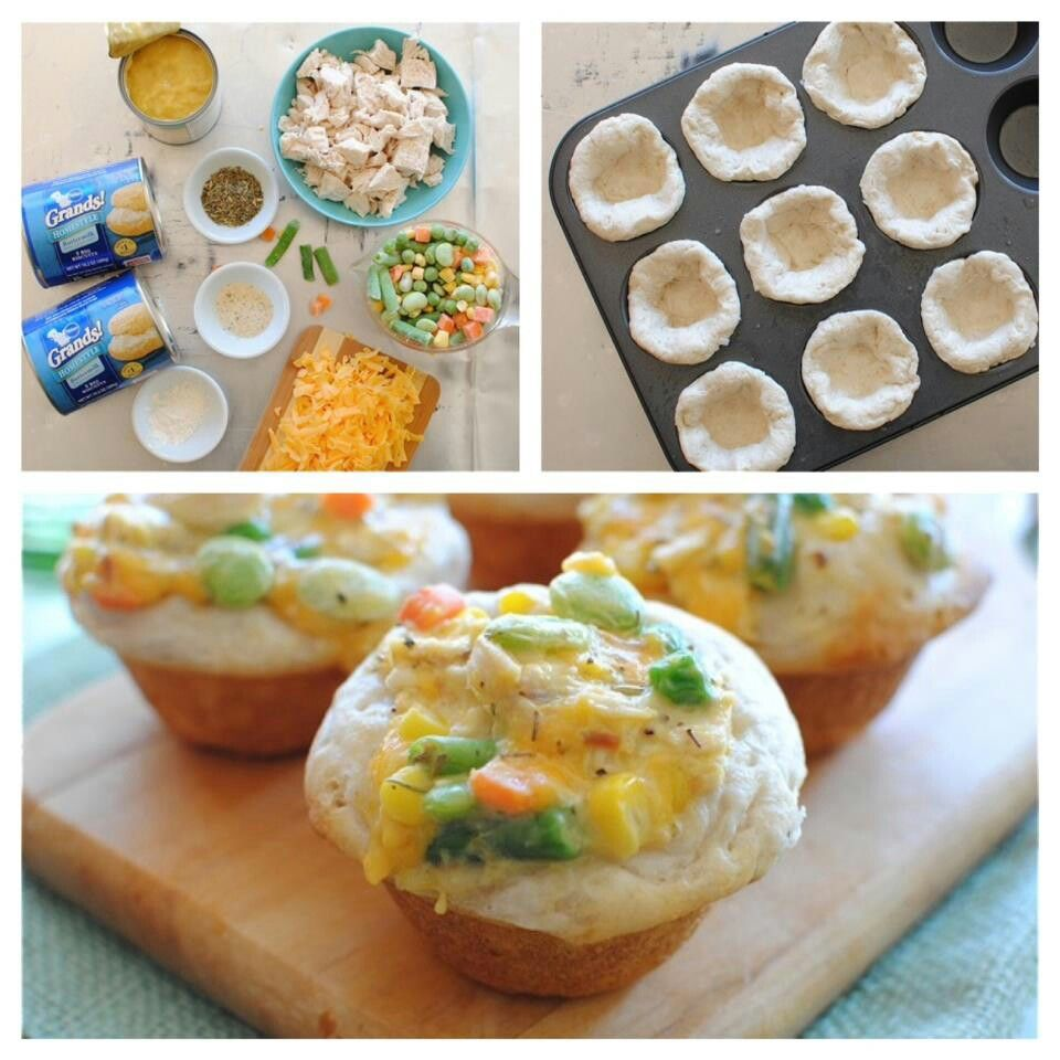 Chicken pot pie cupcakes | Recipes to Try | Pinterest
