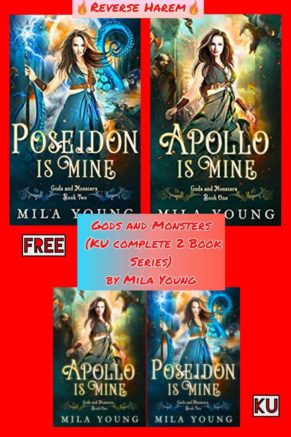 Gods And Monsters 2 Book Series By Mila Young Book Series Fantasy Books Books