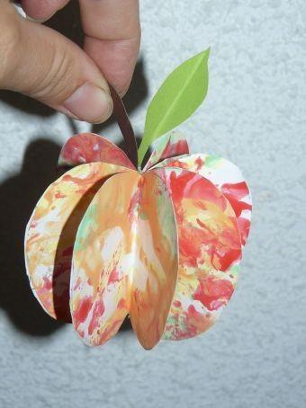 pomme en 3d 2 me version automne pinterest pommes automne et la pomme. Black Bedroom Furniture Sets. Home Design Ideas