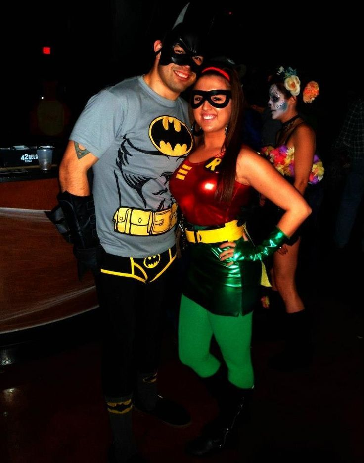 image result for batman and robin couple costume