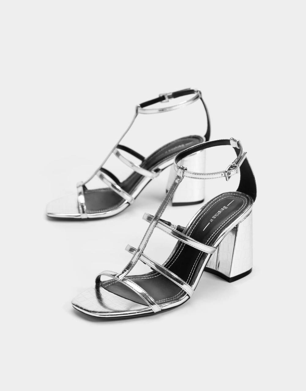 Sandaly Rzymianki Na Obcasie Buty Bershka Poland Sandals Heels Stiletto Sandals Heels