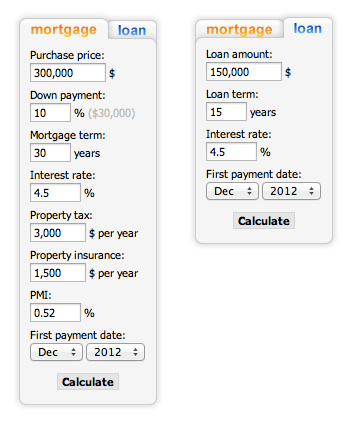 Down Payment Calculator >> Mortgage Loan Calculator Wordpress Loan Calculator