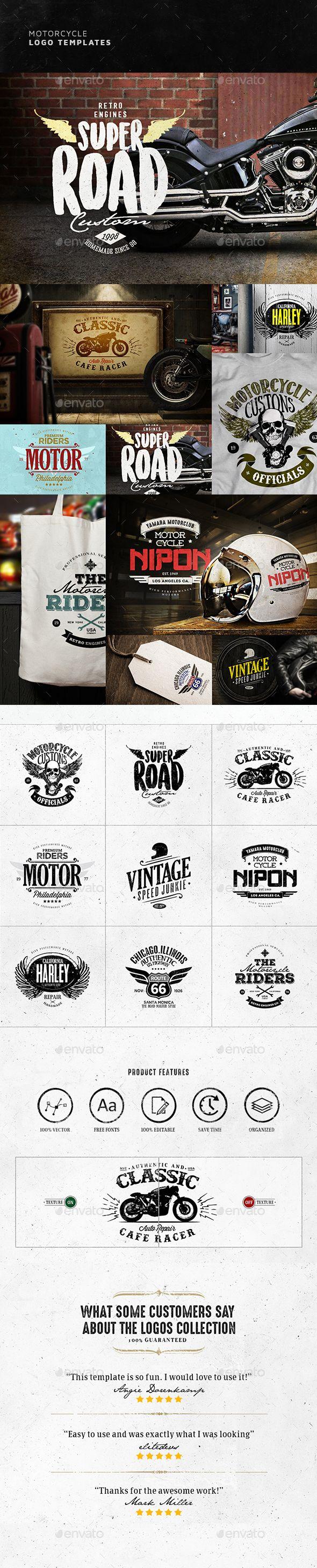 Vintage Motorcycle Logo Design | Photoshop