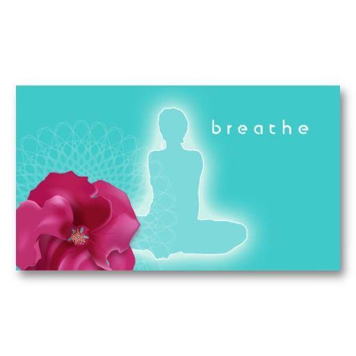 Meditations Yoga Geschäfts Karte Mit Blumen Blau