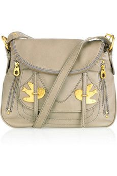 Marc by Marc Jacobs Classic Natasha Leather Bag Gold Birds Stone ... dfd9bd946a0b