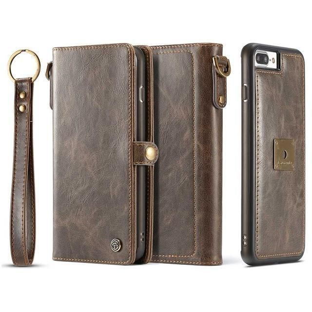 CaseMe Leather Luxury 2-in-1 Magnetic Closure Wallet Case for iPhone 8 & iPhone 8 plus