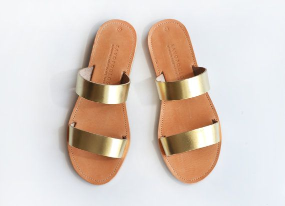 9c01d7de3 ARCHAIKO Leather Sandals women Two strap women by SAVOPOULOS