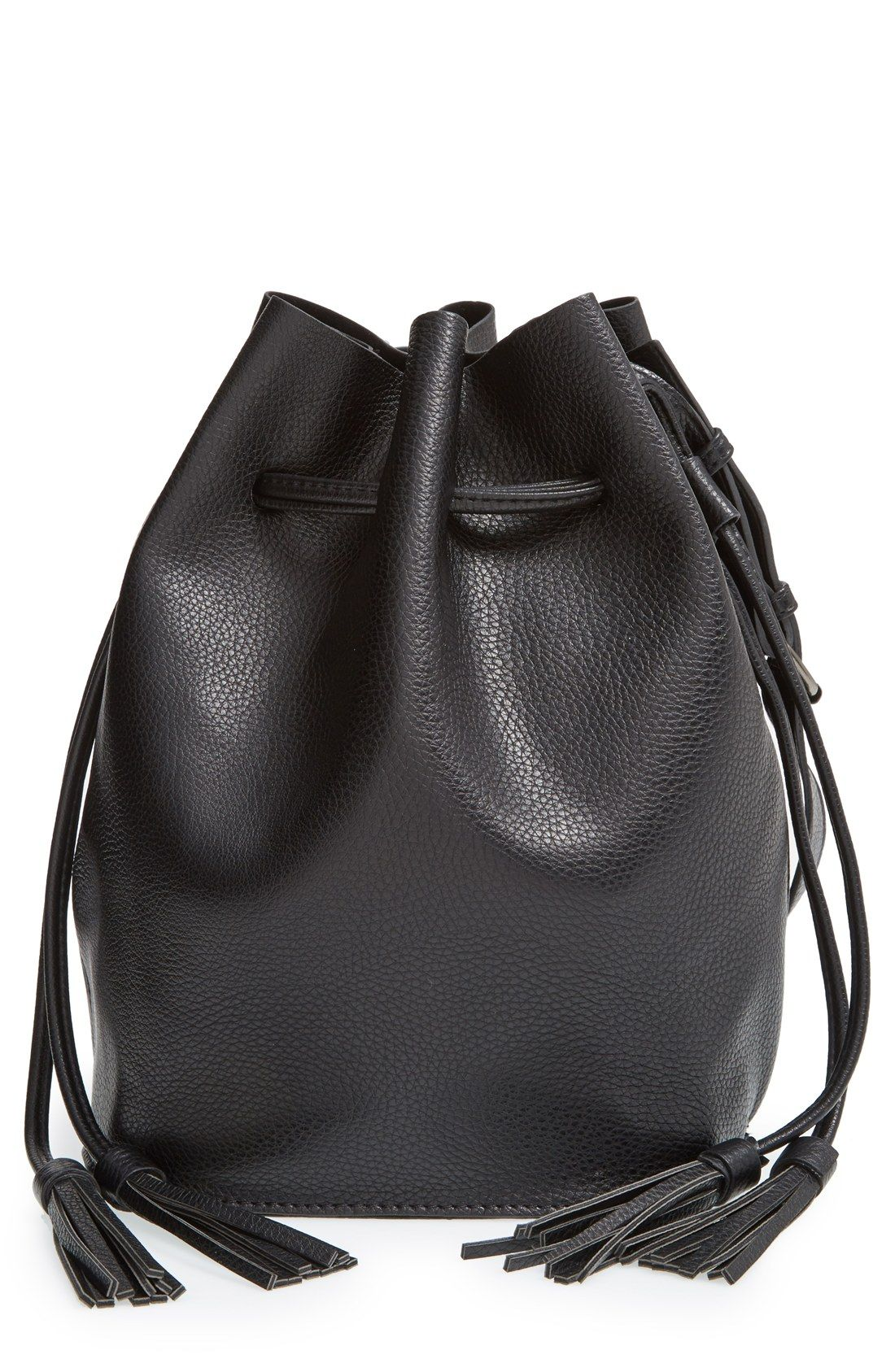 Street Level Faux Leather Bucket Bag (Online Only) | Bags, Buckets ...