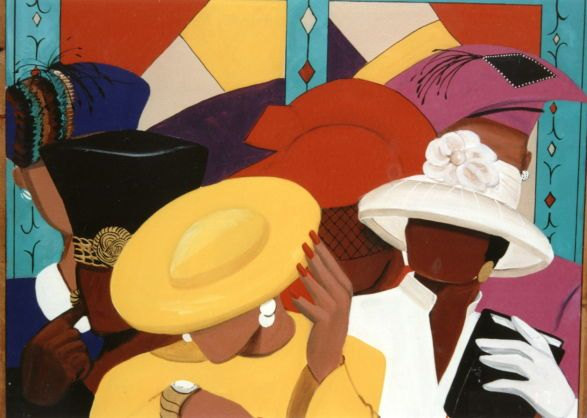 Women In Church Hats Clipart Clipart Kid African Artwork African American Art African American Artwork