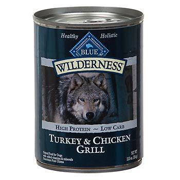Petco Blue Buffalo Wilderness Canned Turkey Chicken Grill Dog