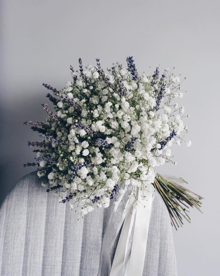 Цветы лучше, букеты из гипсофилы и калатеи