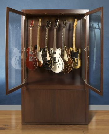 Gallery Case Sensitive Llc Case Sensitive Llc Hand Crafted Solid Wood Guitar Display Case With Humidity C Guitar Display Case Guitar Display Display Case