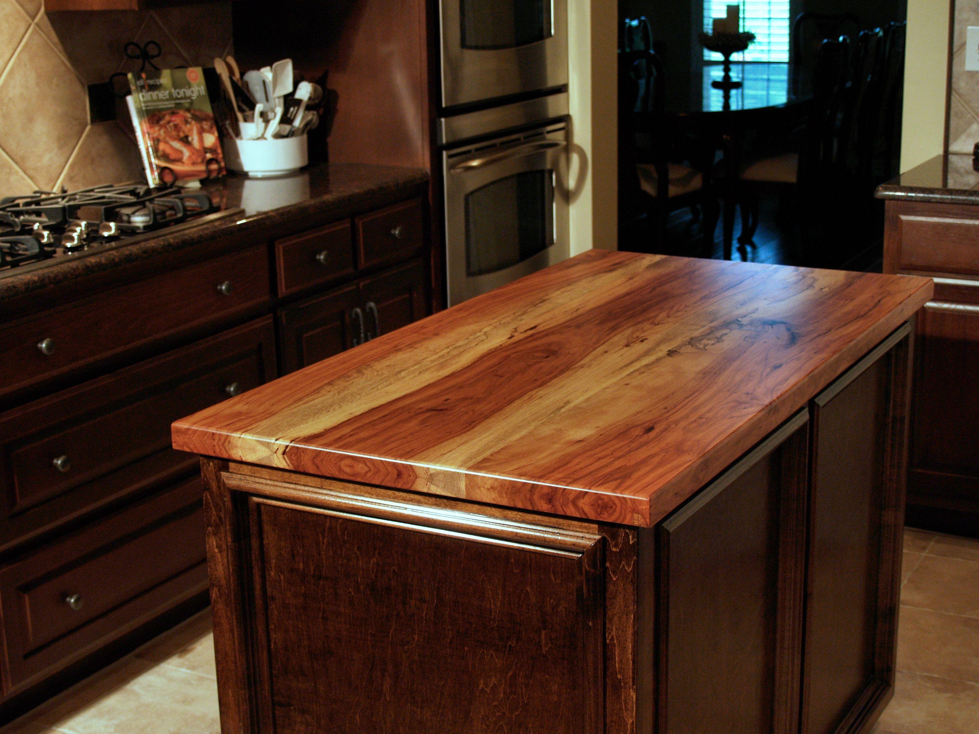 DeVos Custom Woodworking   Spalted Pecan Wood Countertop Photo Gallery