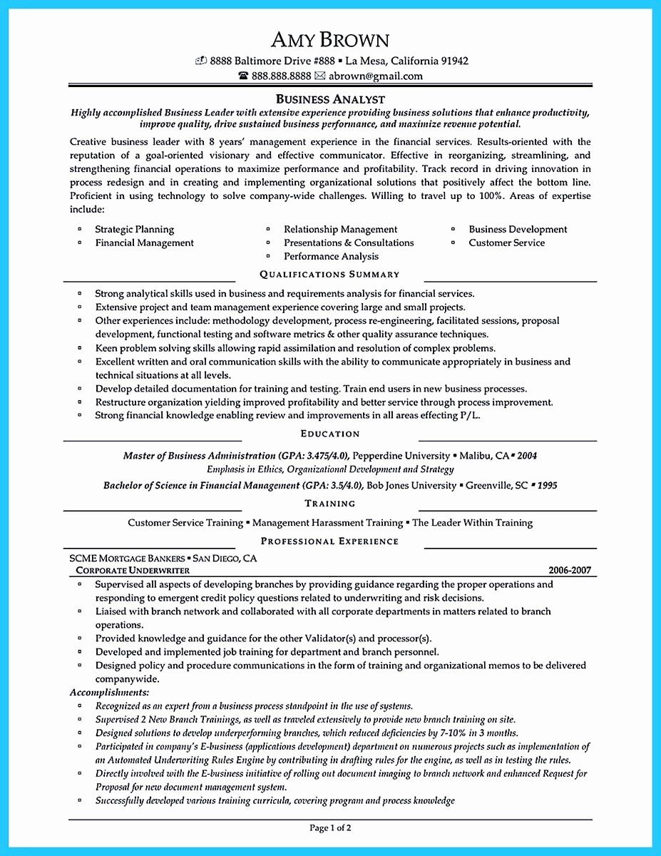23 Business Analyst Resume Summary Examples in 2020