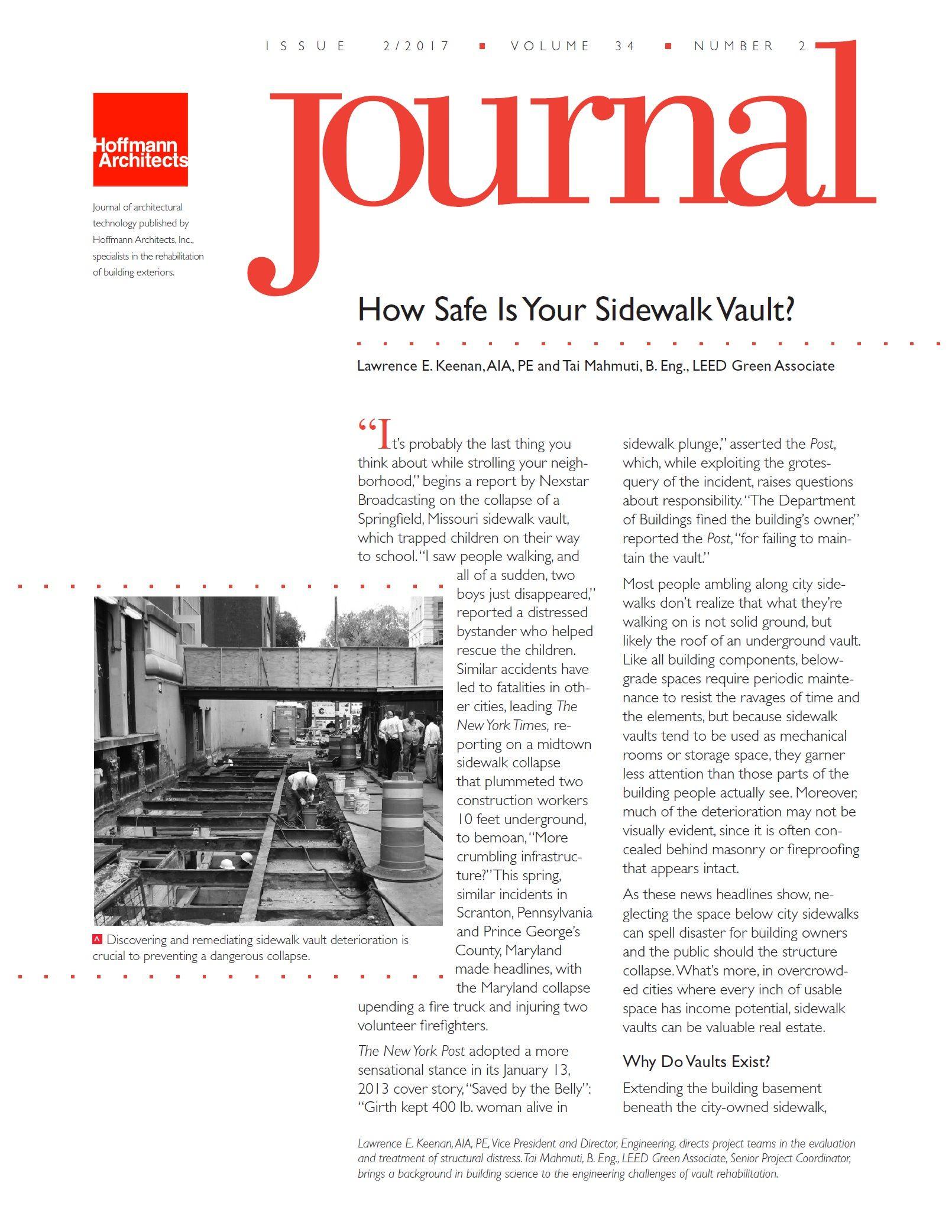 How Safe Is Your Sidewalk Vault Hoffmannarchitectsjournal Architects Journal Leed Journal