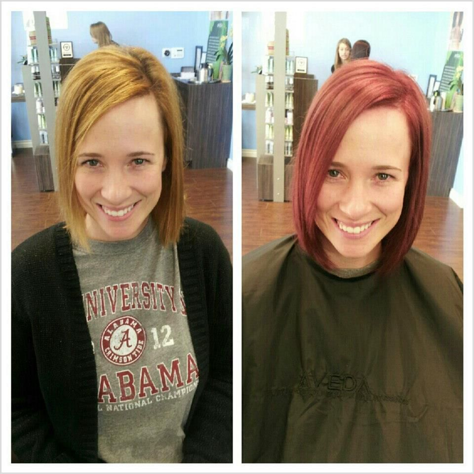 By Kelly Verna! aveda, aveda color, aveda salon, blonde, red, blond to red, hair color, color transformation, bob, short hair, before and after, #avedasalon By Kelly Verna! aveda, aveda color, aveda salon, blonde, red, blond to red, hair color, color transformation, bob, short hair, before and after,