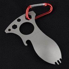 Multi-function Pocket Bottle Opener Spork Spoon Screwdriver Camping Survival Kits