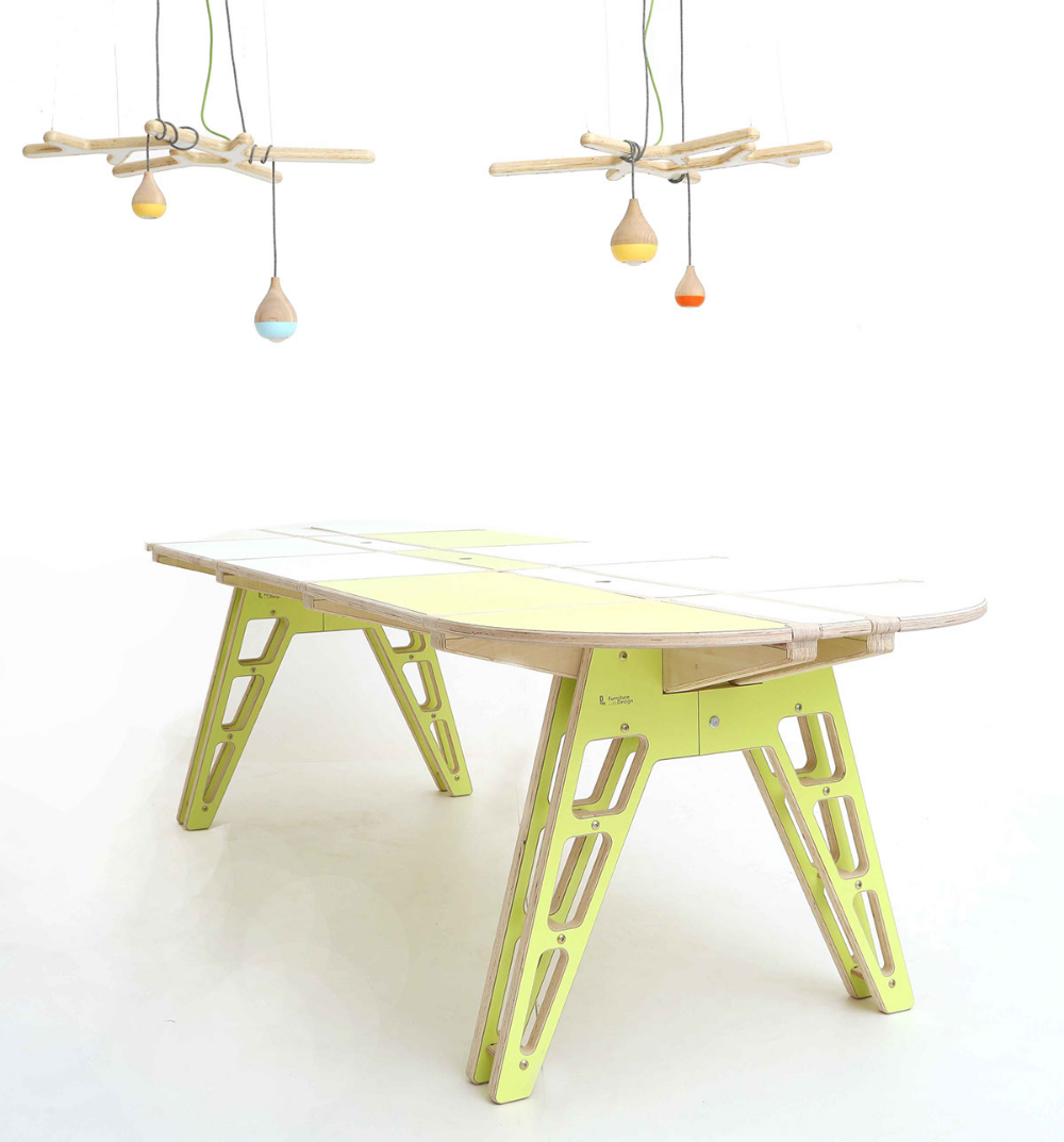 Puzzle table on Behance Flat pack furniture, Puzzle table