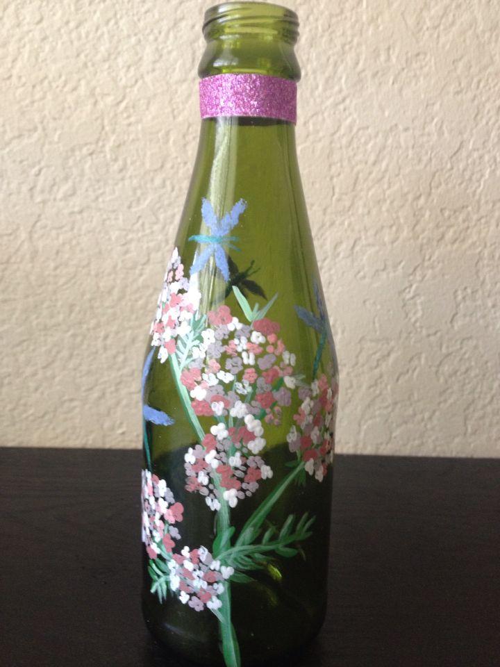 Dragonflies wine bottle