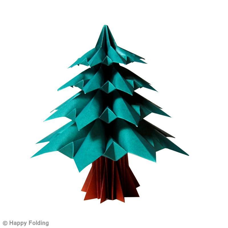 diy origami sapin de nol vido ides conseils et tuto origami - Decoration De Noel En Origami